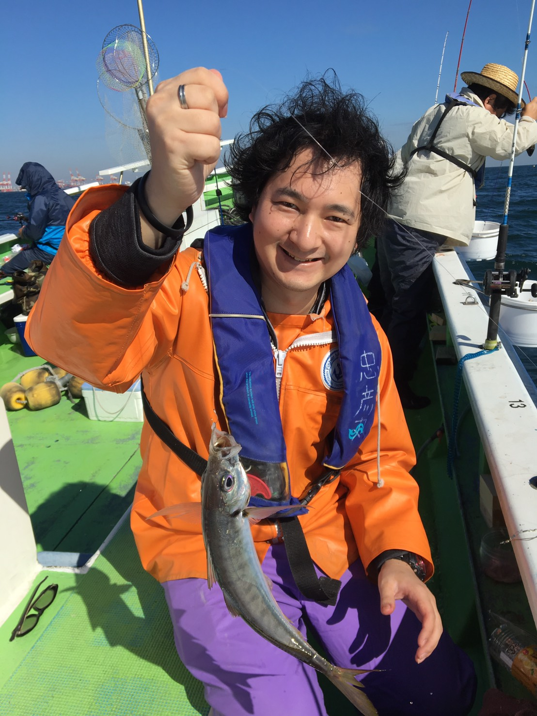 藤井も舟釣りに初挑戦しました!