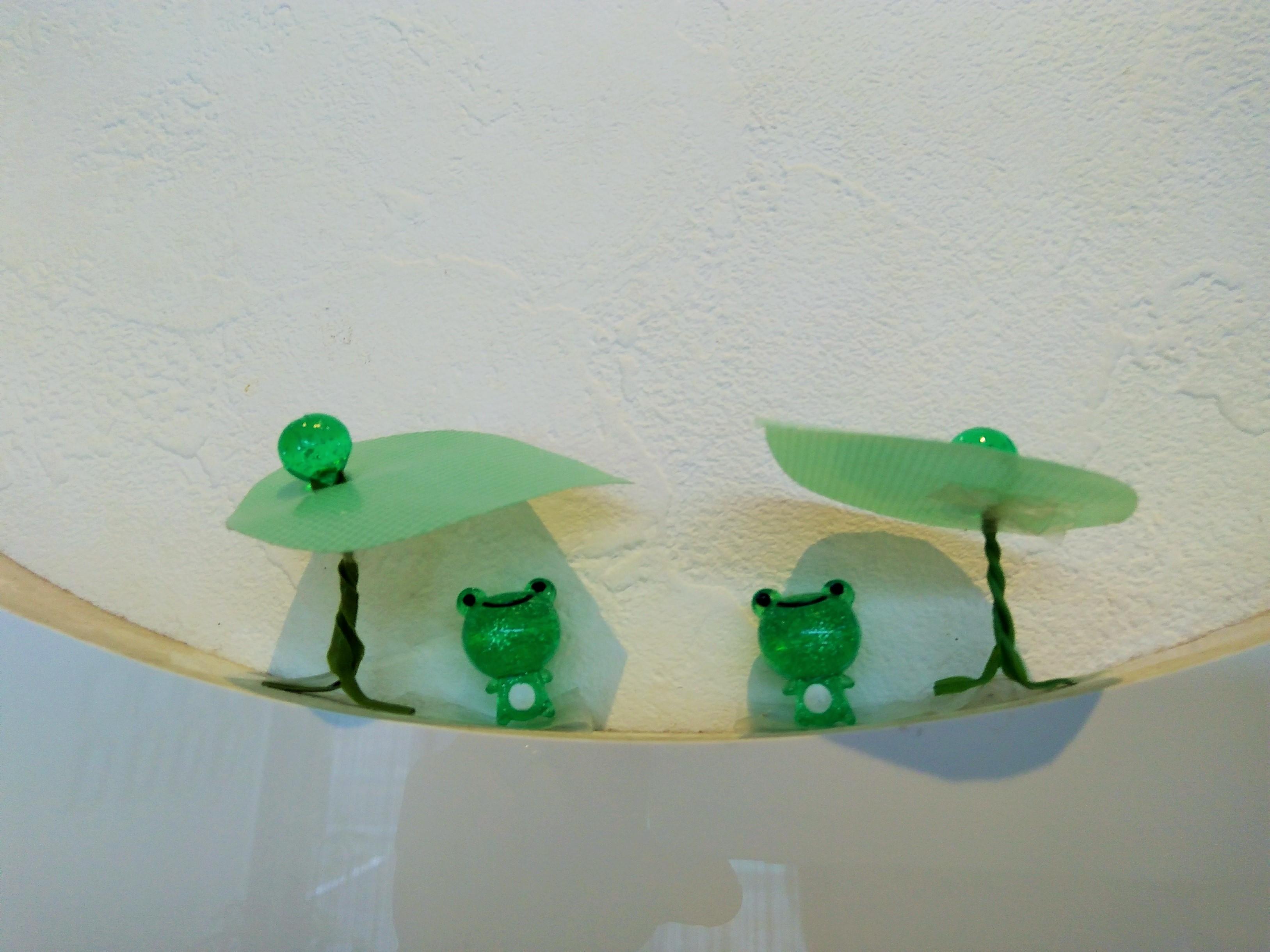 カエルを飾りました★