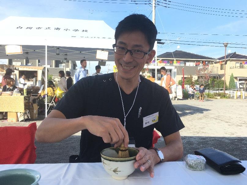マチナカマルシェ~お灸体験と茶道体験