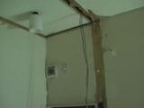 トイレ壁撤去
