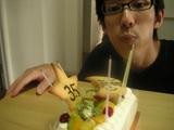 09院長誕生日ケーキ火消し