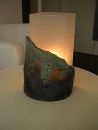 陶芸ランプシェード1